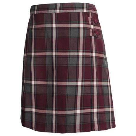 Lands' End A-Line Uniform Plaid Uniform Skirt - Knee Length (For Youth Girls)