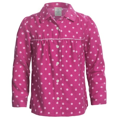 Lands' End Brushed Flannel Pajama Shirt - Long Sleeve (For Girls)