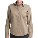 Lands' End Basic Cotton Twill Shirt - Long Sleeve (For Women)