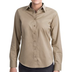 Lands' End Basic Cotton Twill Shirt - Long Sleeve (For Women)