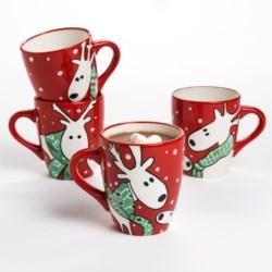 BIA Cordon Bleu Reindeer Mug Set - Gift Box, Set of 4