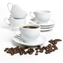 BIA Cordon Bleu Demi/Espresso Cups and Saucers - Set of 4