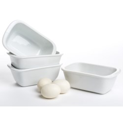 BIA Cordon Bleu Mini Loaf Pans - Porcelain, Set of 4
