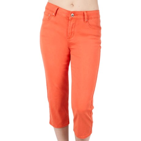 Ethyl Crop Pants - Stretch Cotton (For Women)