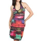 Ethyl Watercolor Knit Dress - Halter  (For Women)