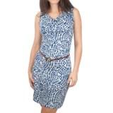 Ethyl Drape Neck Dress - Sleeveless (For Women)