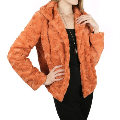 Ethyl Faux-Fur Jacket - Single Button (For Women)