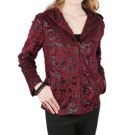 Ethyl Flocked Faux-Leather Jacket (For Women)