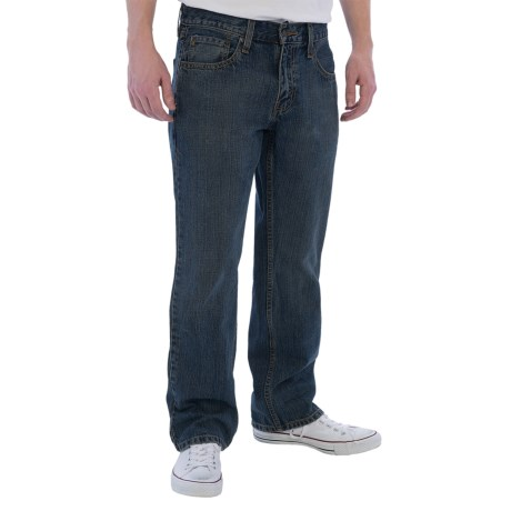 Five-Pocket Straight Jeans (For Men)
