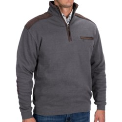 Viyella Patch Sleeve Knit Pullover - Zip Neck, Long Sleeve (For Men)