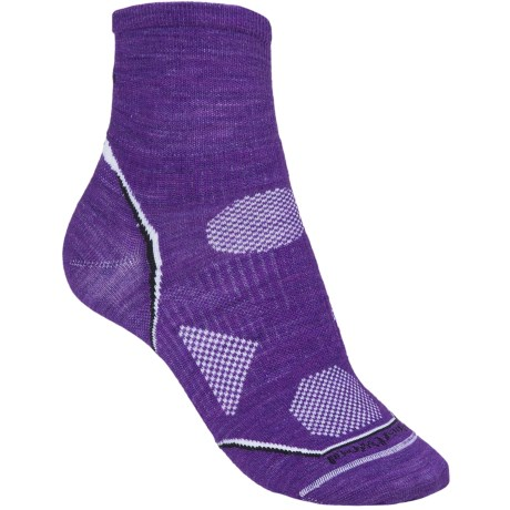 SmartWool PhD Multisport Mini Socks - Merino Wool, 1/4 Crew (For Women)