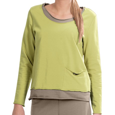 NTCO Noma Playa Shirt - Stretch Cotton French Terry, Long Sleeve (For Women)