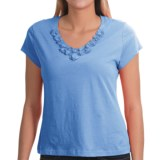 Nomadic Traders NTCO Buena Vista Floret T-Shirt - Pima Cotton, Short Sleeve (For Women)