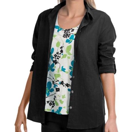 NTCO Veranda Weekend Tunic Shirt - Rayon-Linen, Long Sleeve (For Women)