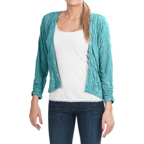 Apropos Crush On You Zia Crop Cardigan Sweater (For Women)