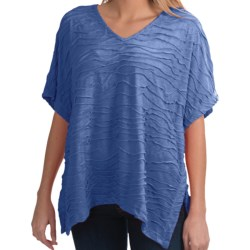 Nomadic Traders Apropos Intermezzo Poncho - V-Neck, Elbow Sleeve (For Women)