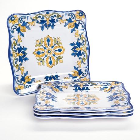 """Le Cadeaux Seville Melamine Dinner Plates - 11"""", Set of 4"""