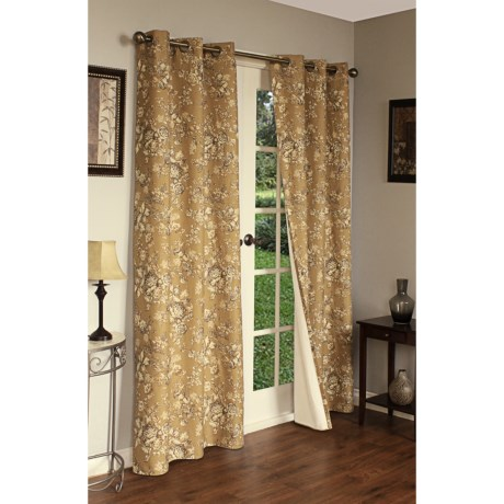 "Thermalogic Weathermate Hanover Floral Curtains - 160x84"", Grommet-Top, Insulated"