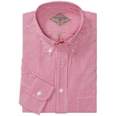 Bills Khakis Woven Check Shirt - Button Down, Long Sleeve (For Men)