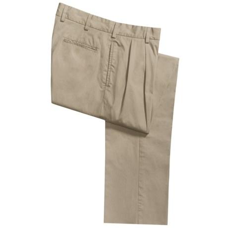 Bills Khakis M2P Driving Pants - Pleats, Stretch Cotton Twill (For Men)