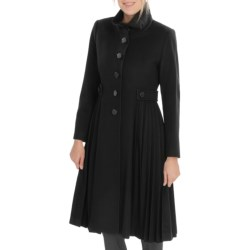 George Simonton Side Pleat Coat - Wool Blend (For Women)