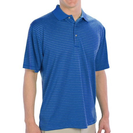 PGA Tour Striped Polo Shirt - UPF 15+, Short Sleeve (For Men)