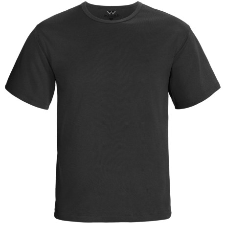 Wedge Textured Knit High-Performance T-Shirt - Crew, Short Sleeve (For Men)