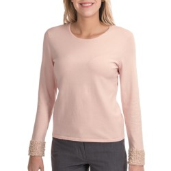 Odeon by Belford Pearl Cuff Sweater - Silk-Cashmere (For Women)