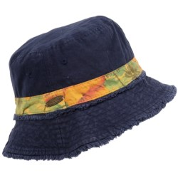 Panama Jack Frayed Bucket Hat - Cotton Twill (For Men and Women)