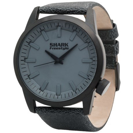 Freestyle Orion Shark Analog Watch - Distressed Leather Strap