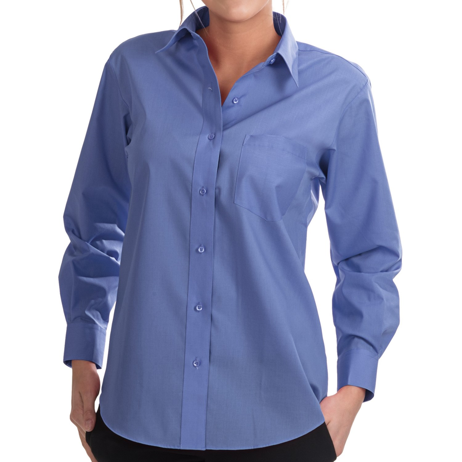 Foxcroft Wrinkle Free Essentials Shirt For Women 6630a: wrinkle free shirts for women