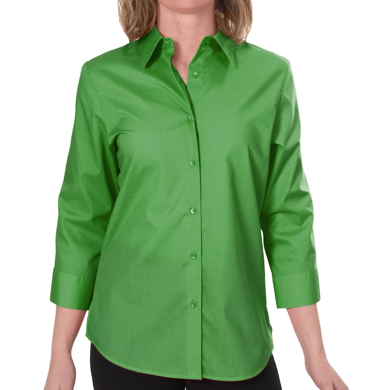 Foxcroft Essentials Shaped Shirt For Women 6630c Save 69