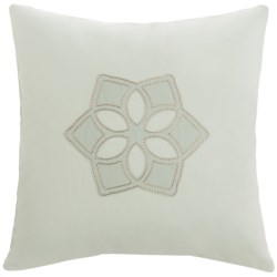 "Barbara Barry Dream Sanctuary Scroll Accent Pillow - 16x16"", 250 TC Cotton"
