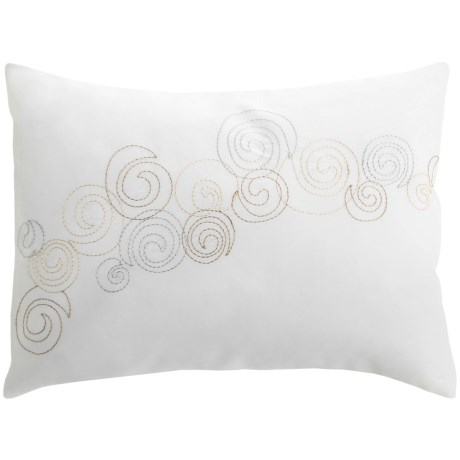 "Barbara Barry Dream Nautilus Conch Boudoir Accent Pillow - 12x16"", 300 TC Cotton Sateen"