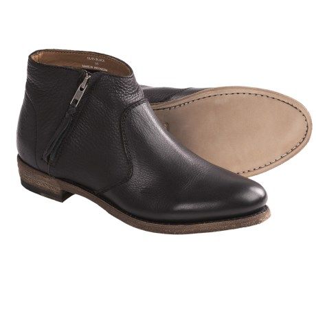 Blackstone DL45 Leather Demi Boots - Side Zip (For Women)
