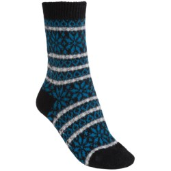 Pantherella Molly Nordic Fair Isle Socks - Cashmere, Crew (For Women)