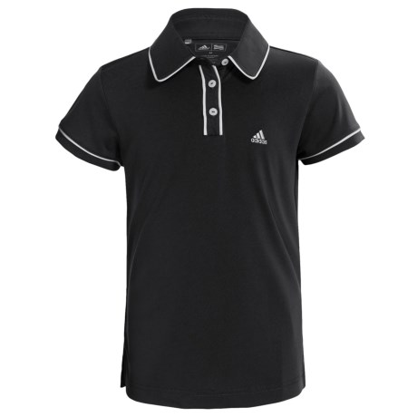 Adidas Golf ClimaLite® Piped Polo Shirt - Short Sleeve (For Girls)