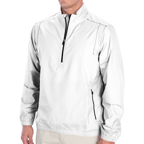 adidas golf ClimaProof® Wind Jacket - Zip Neck, Long Sleeve (For Men)