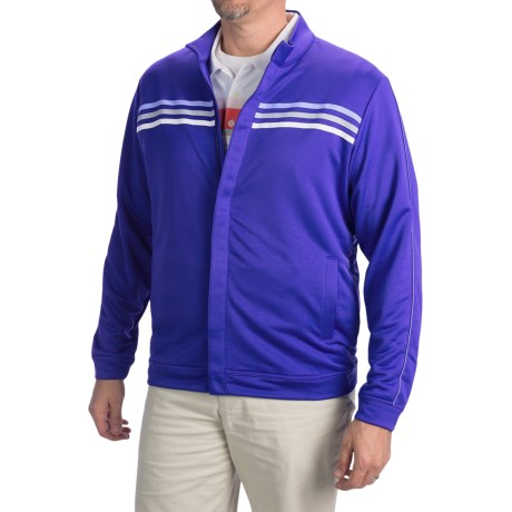 Adidas Golf ClimaLite® 3-Stripe Terry Jacket (For Men)