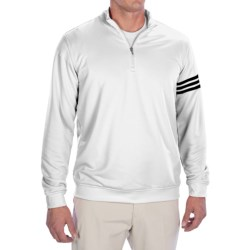 Adidas Golf ClimaLite® 3-Stripes Pullover - Zip Neck, Long Sleeve (For Men)