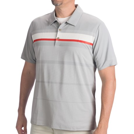 Adidas Golf Adizero Printed Stripe Polo Shirt - Short Sleeve (For Men)