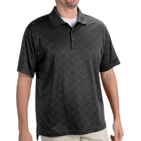 Adidas Golf ClimaCool® Diagonal Textured Polo Shirt - Short Sleeve (For Men)