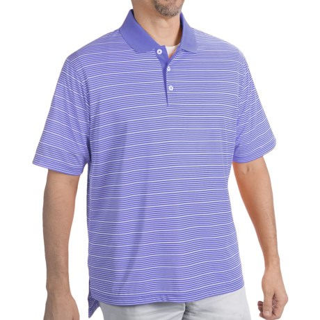 Adidas Golf ClimaLite® Two-Color Stripe Polo Shirt - Short Sleeve (For Men)