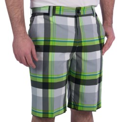 adidas golf ClimaLite® Plaid Shorts (For Men)
