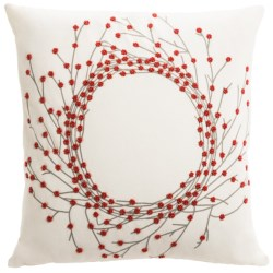 Rizzy Home Beaded Wreath Decor Pillow - 18x18""