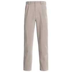 Cotton Canvas Pants - Pleated (For Men)