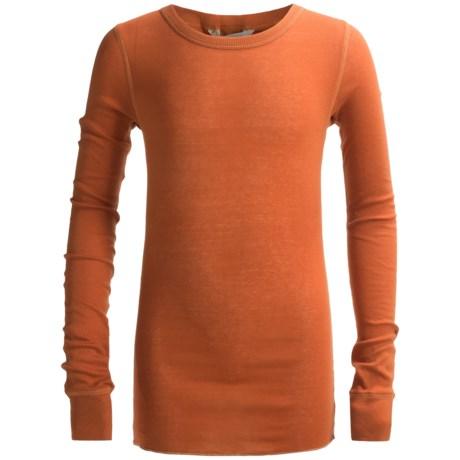 Rib-Trim Cotton Shirt - Long Sleeve (For Youth)