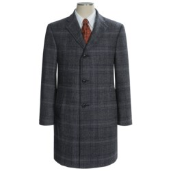 Hickey Freeman Fancy Checkered Topcoat - Worsted Wool (For Men)