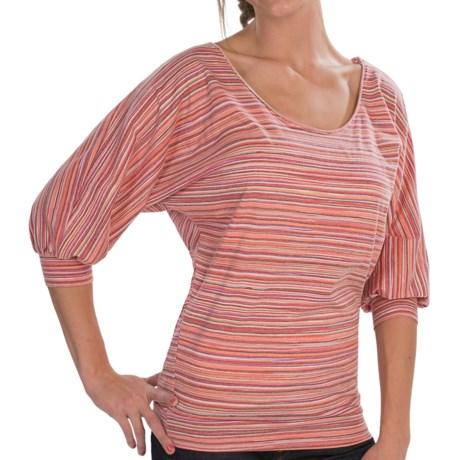Alternative Apparel Round Neck Shirt - Jersey Knit, 3/4 Dolman Sleeve (For Women)