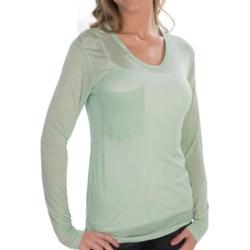 Alternative Apparel Soft Knit T-Shirt - Modal-Silk, Single Pocket, Long Sleeve (For Women)